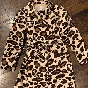 Girls Gymboree Cheetah Print Coat